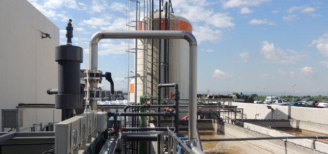 Depuradora de aguas residuales - Biológico y modulo de ultrafiltración de membranas MBR
